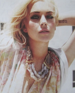 Lavender Lace Necklace as seen on Lindsay Lohan