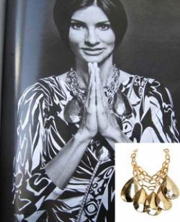 Gold Rush Necklace as seen on Ingrid Cases