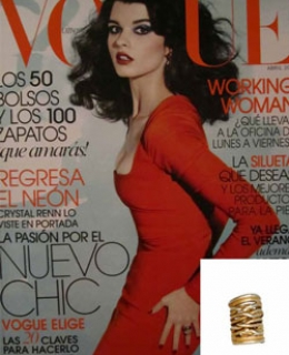 Santorini Ring as seen in Vogue Magazine
