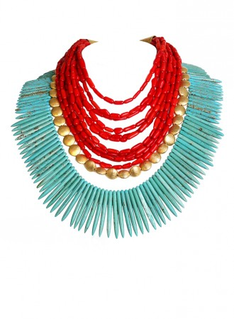 Tribal Spikes Necklace