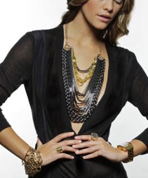 Liquid Metal Necklace & Honey Bracelet